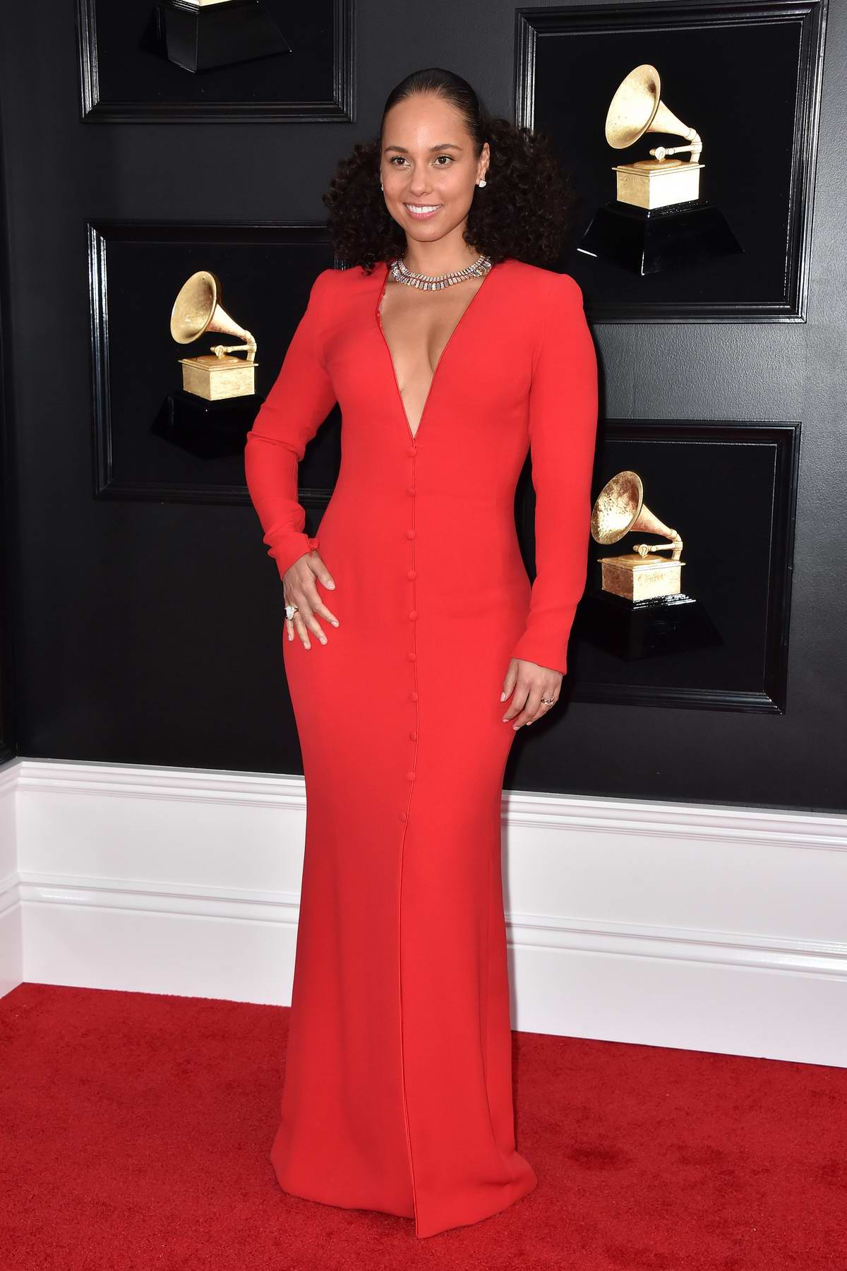 Alicia Keys attends the 61st Annual GRAMMY Awards (2019 GRAMMYs) at Staples Center in Los Angeles