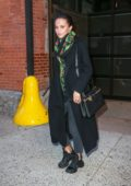 Alicia Vikander seen leaving Leaving Highline Stages after doing a photoshoot for Louis Vuitton in New York City