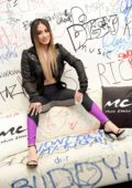 Ally Brooke promotes her new single 'Low Key' at Music Choice in New York City