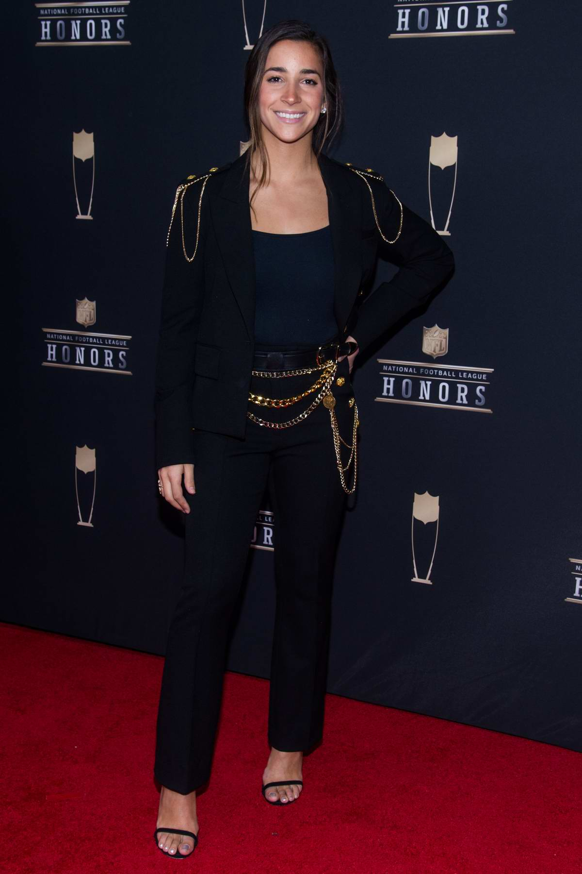 Aly Raisman attends the 8th Annual NFL Honors at the Fox Theatre in Atlanta, Georgia