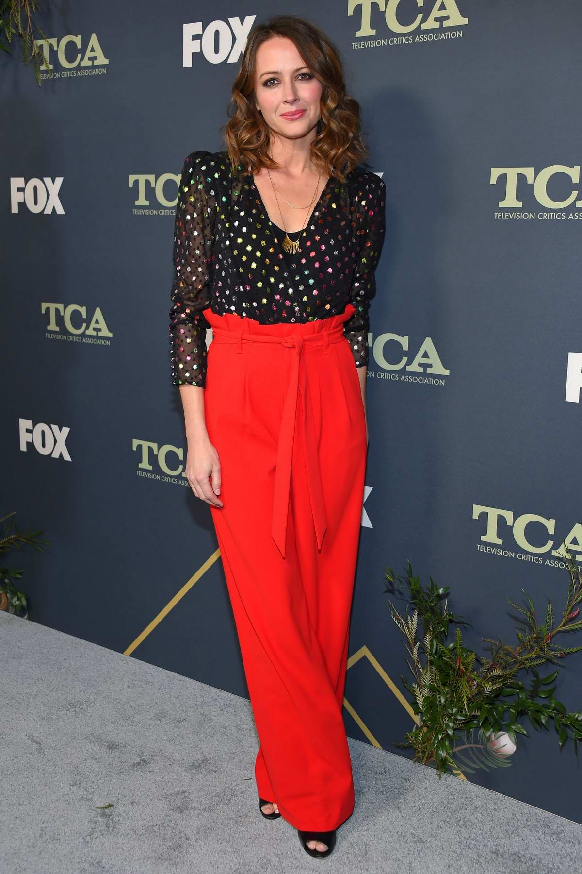 Amy Acker attends FOX Winter TCA 2019 All-Star Party in Los Angeles