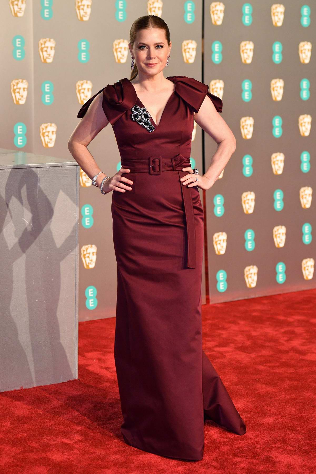 Amy Adams attends the 72nd EE British Academy Film Awards (BAFTA 2019) at Royal Albert Hall in London, UK