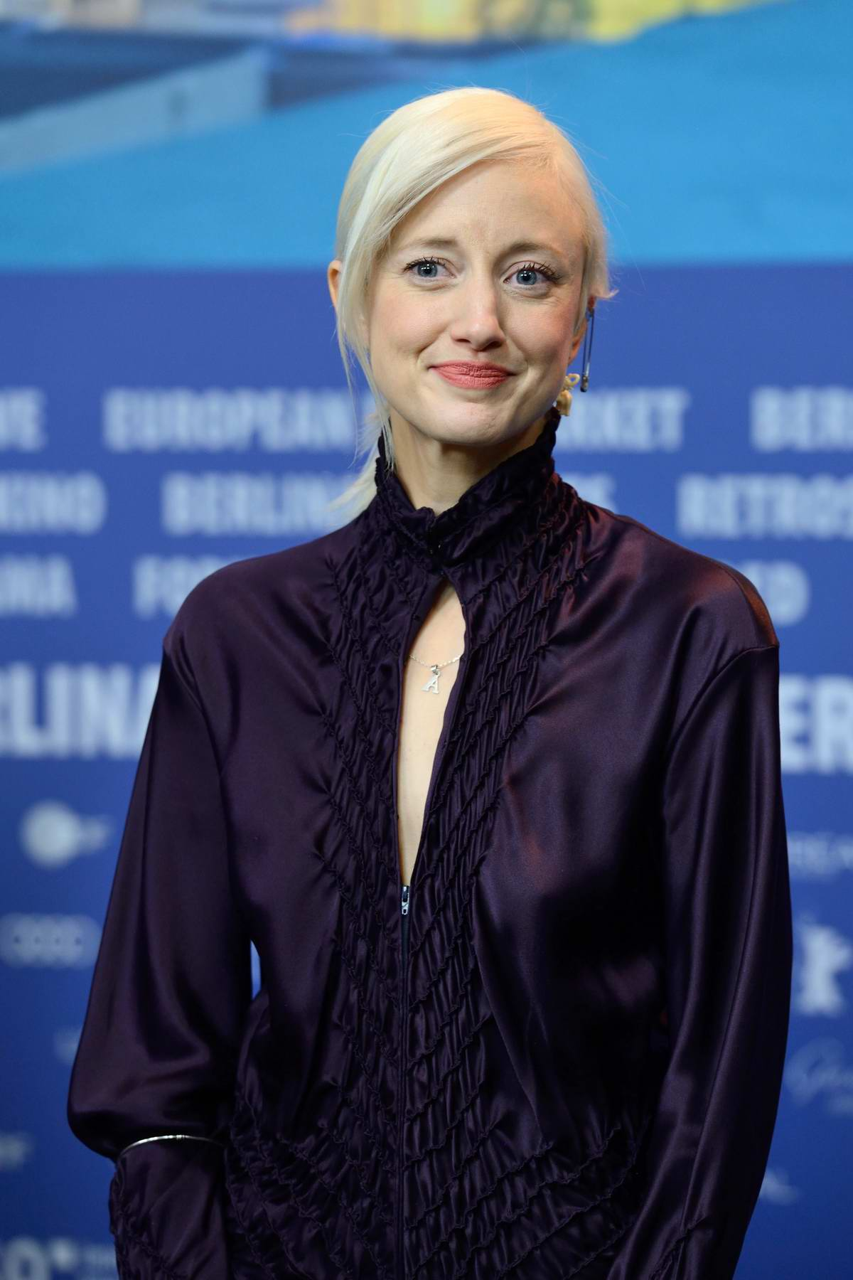 Andrea Riseborough attends 'The Kindness of Strangers' Press Conference at the 69th BIFF (Berlinale) in Berlin, Germany