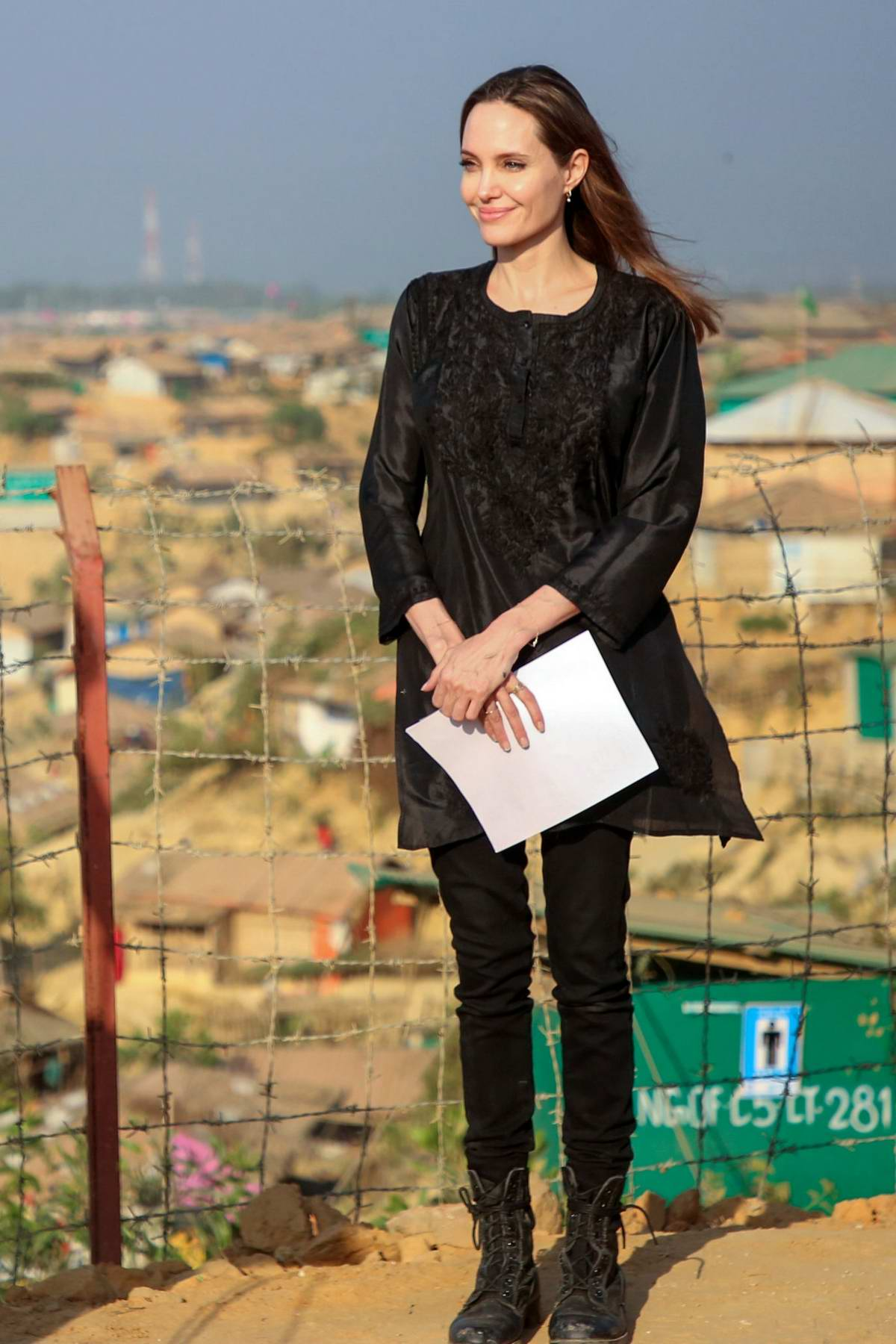Angelina Jolie visits the UNHCR special envoy to Kutupalong Rohingya refugee camp in Bangladesh