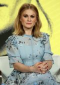 Anna Paquin attends the 'Flack' Panel during 2019 CW TCA Winter Press Tour in Pasadena, California