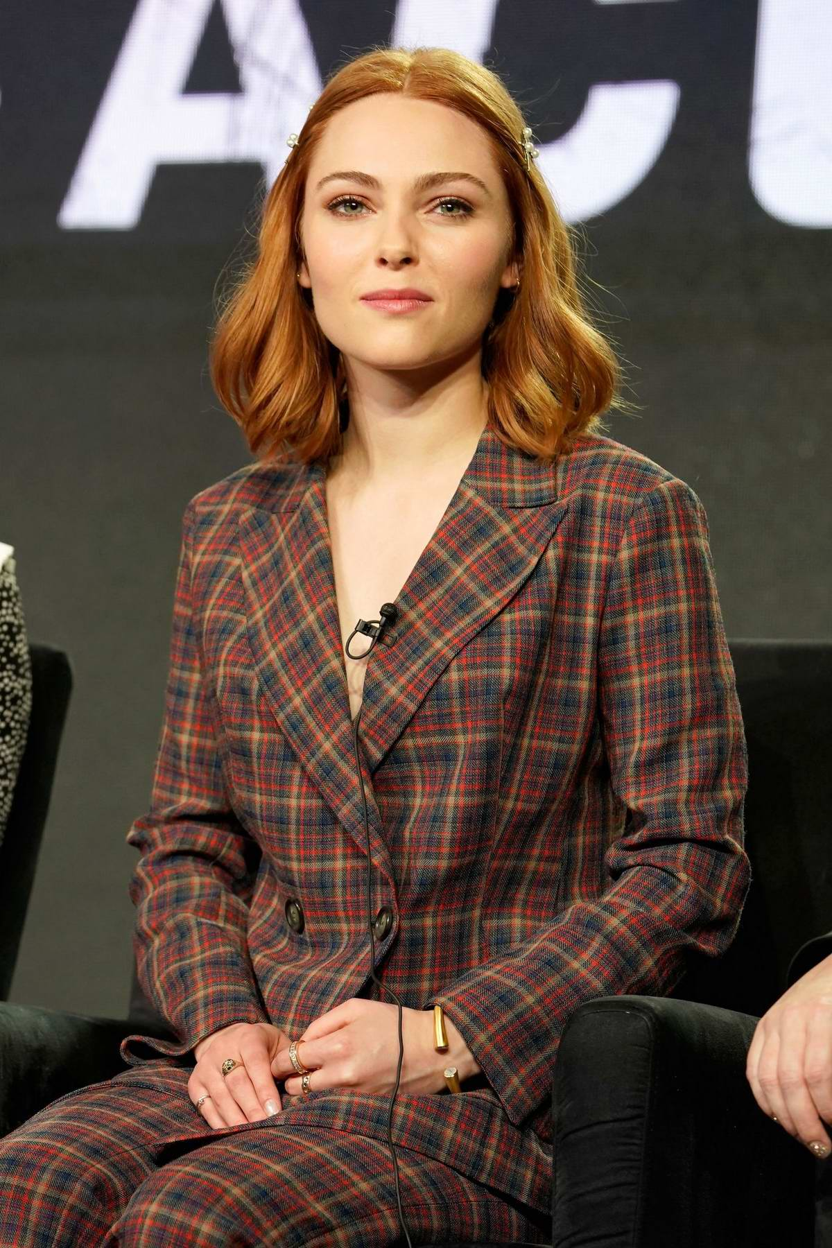 AnnaSophia Robb attends the Hulu Panel during the Winter TCA in Pasadena, California