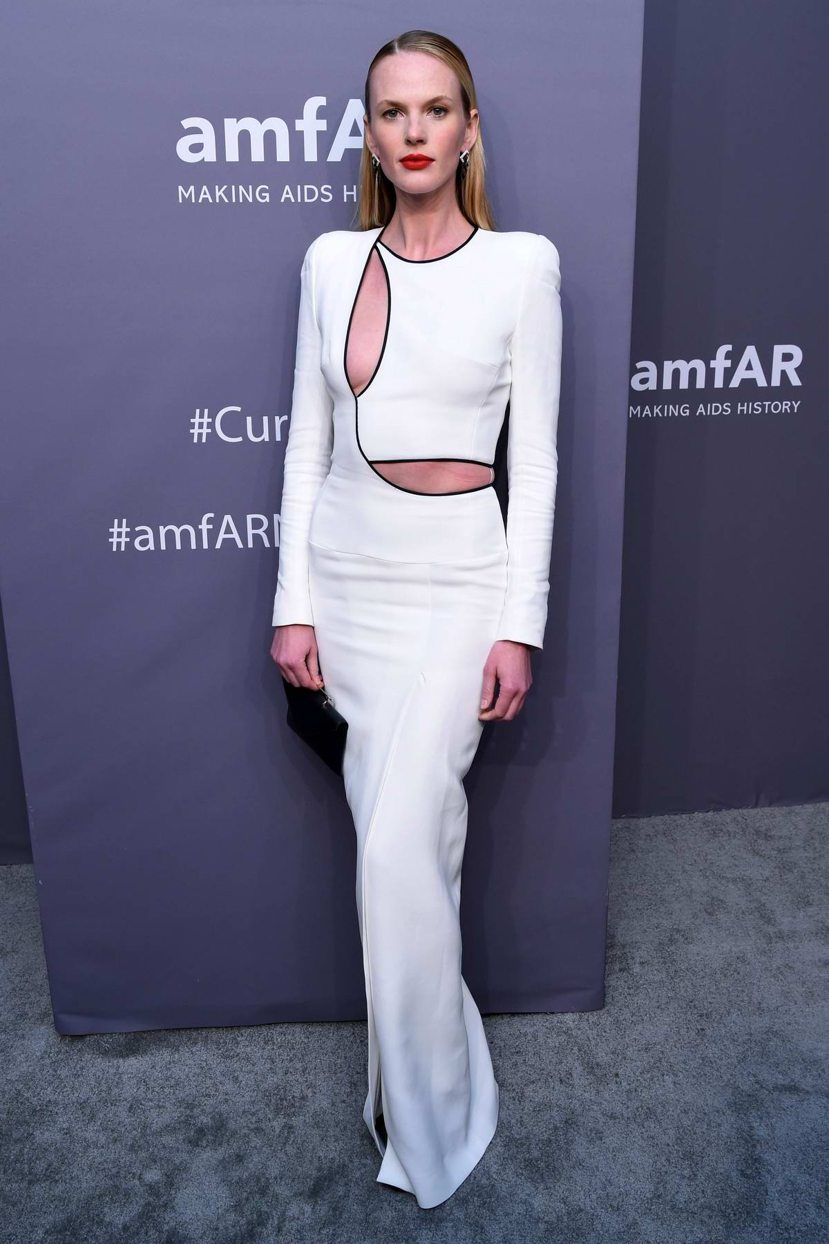 Anne Vyalitsyna attends amfAR New York Gala 2019 at Cipriani Wall Street in New York City