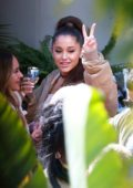 Ariana Grande celebrates her album 'Thank U, Next' hitting #1 at a party in Beverly Hills, Los Angeles