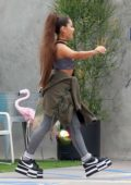 Ariana Grande picks up some groceries from Whole Foods in West Hollywood, Los Angeles