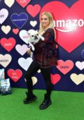 Ashlee Simpson attends the Amazon's Valentine's Pup-Up in Los Angeles