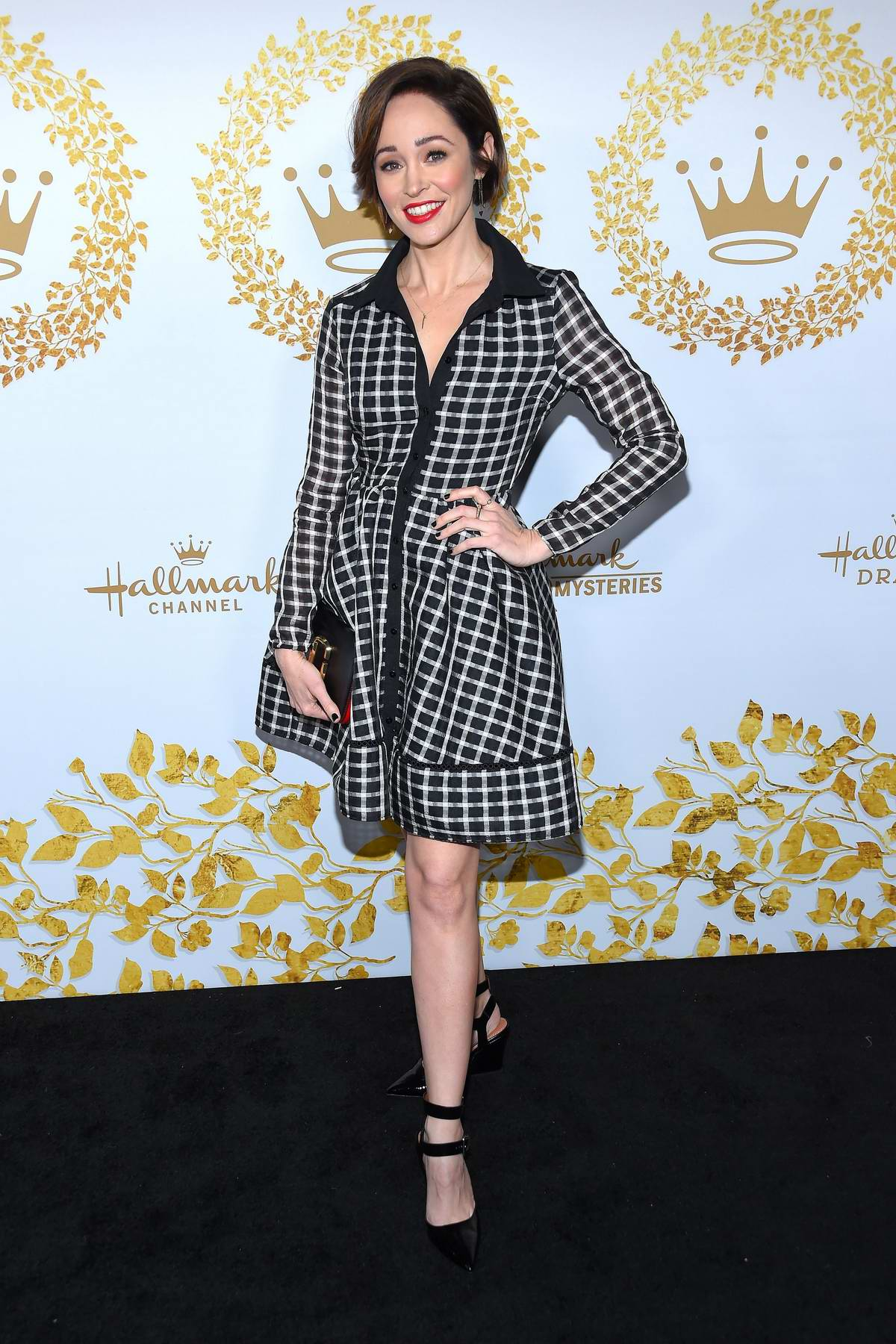 Autumn Reeser attends the Hallmark Movies & Mysteries 2019 TCA Winter Tour in Pasadena, California