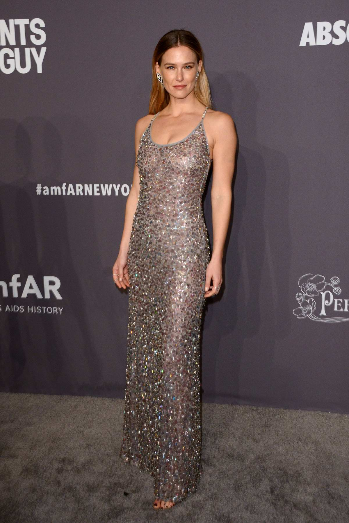 Bar Refaeli attends amfAR New York Gala 2019 at Cipriani Wall Street in New York City