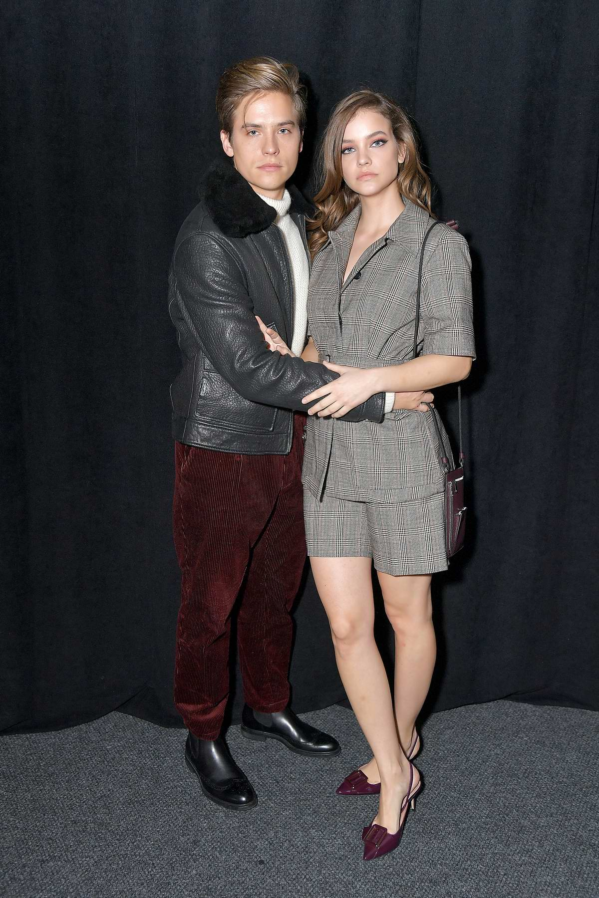 Barbara Palvin and Dylan Sprouse attends the BOSS Womenswear and Menswear fashion show during New York Fashion Week in New York City