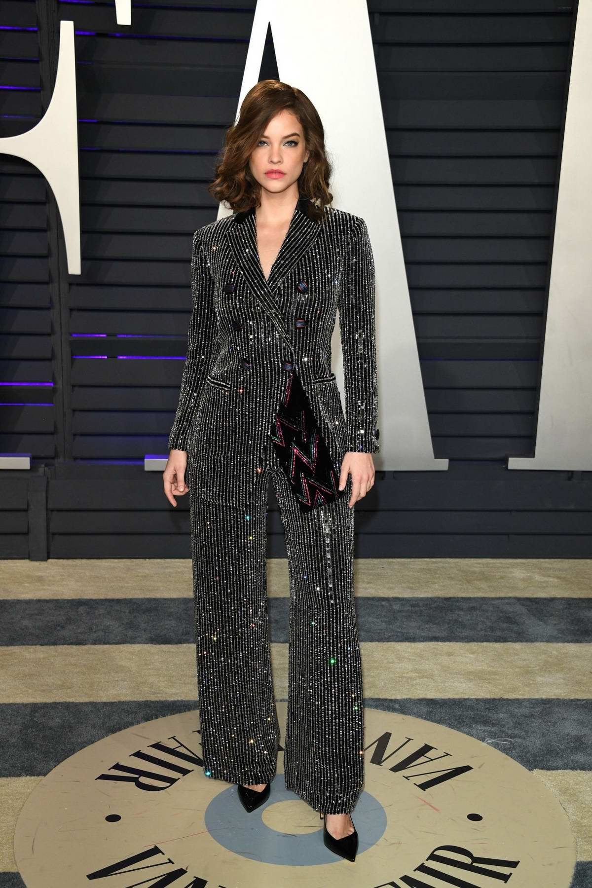 Barbara Palvin attends the Vanity Fair Oscar Party at Wallis Annenberg Center for the Performing Arts in Beverly Hills, California