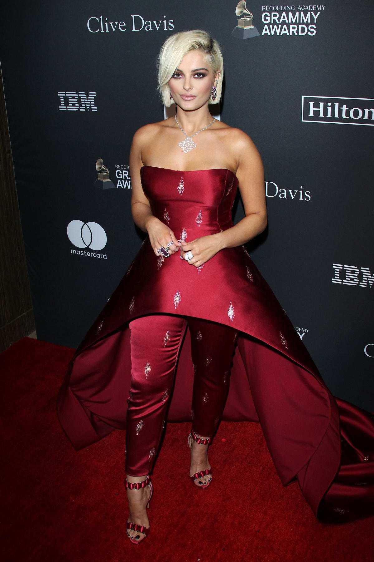 Bebe Rexha attends the Clive Davis Pre-Grammy Gala and Salute to Industry Icons held at The Beverly Hilton in Los Angeles