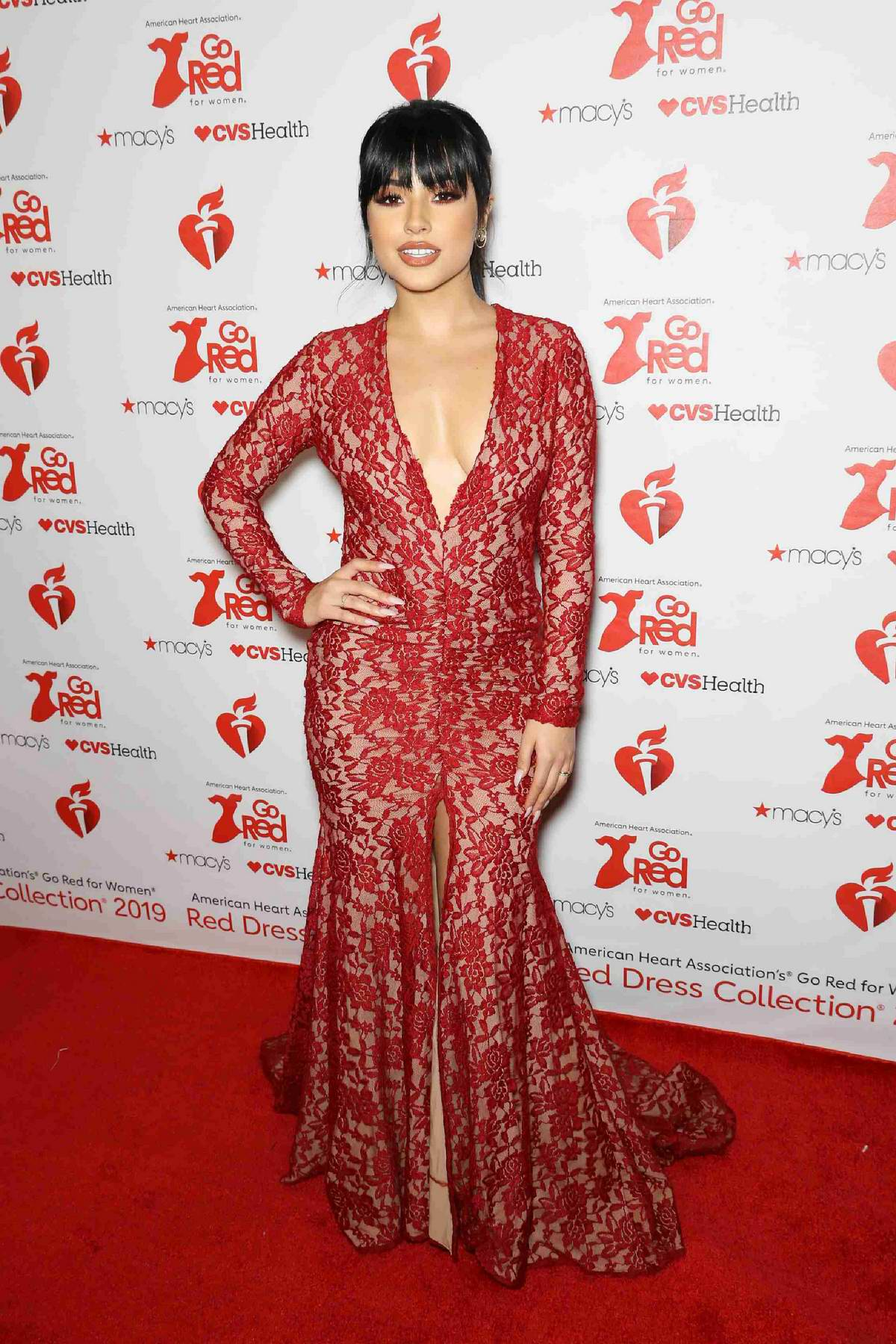 Becky G attends the 15th Annual Heart Truth Go Red for Women Red Dress Collection 2019 in New York City