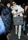 Bella Hadid seen leaving after Brandon Maxwell show during New York Fashion Week in New York City