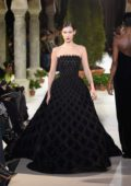 Bella Hadid walks the runway at Oscar De La Renta show during New York Fashion Week in New York City