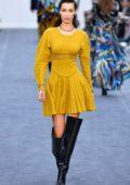 Bella Hadid walks the runway at the Roberto Cavalli Fashion Show during Milan Fashion Week in Milan, Italy