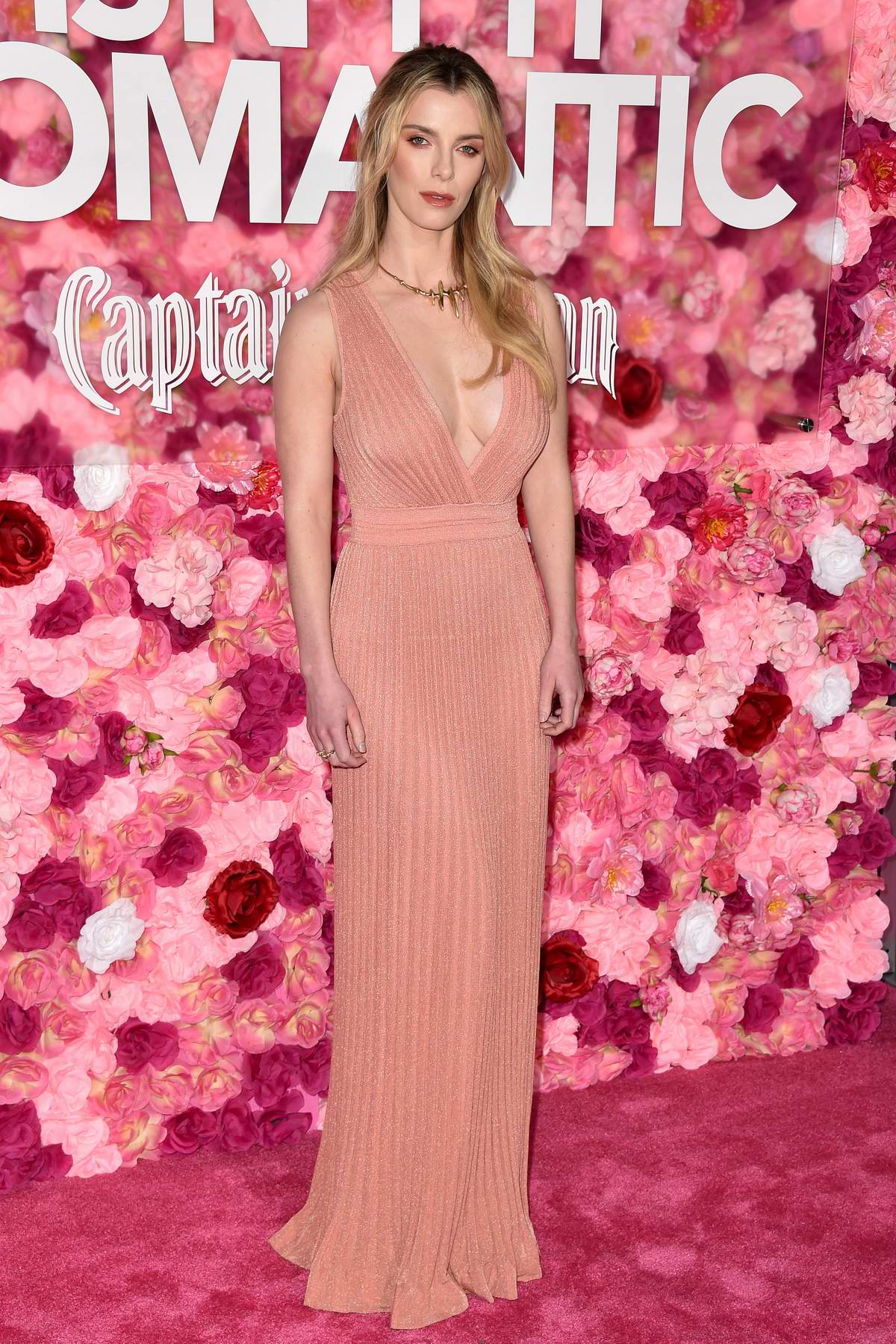 Betty Gilpin attends 'Isn't It Romantic' Premiere at The Theatre at Ace Hotel in Los Angeles