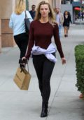 Betty Gilpin enjoys an afternoon of shopping at James Perse in Beverly Hills, Los Angeles