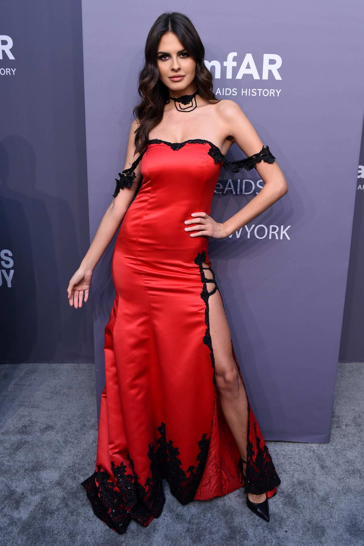 Bojana Krsmanovic attends amfAR New York Gala 2019 at Cipriani Wall Street in New York City