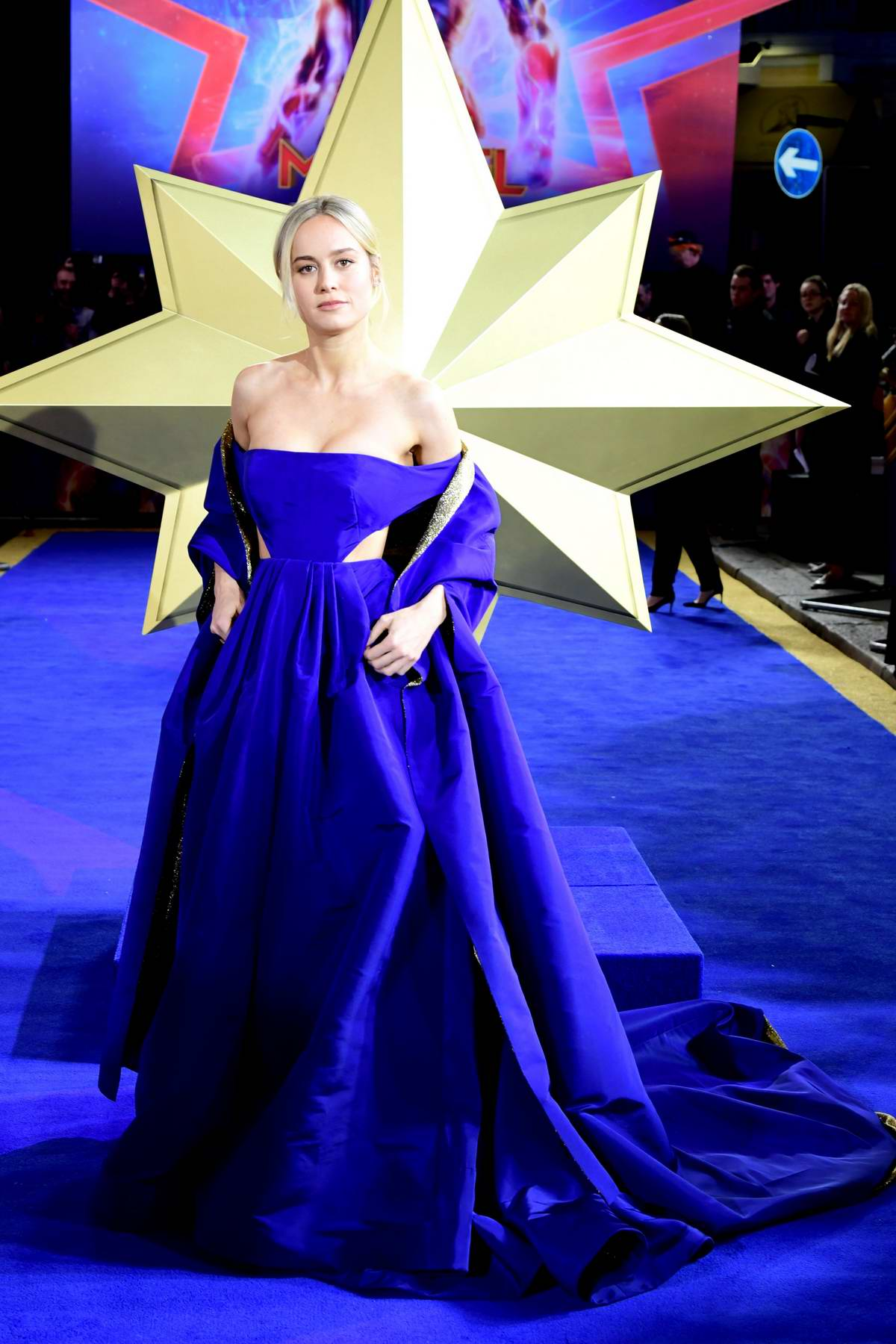 Brie Larson attends The European premiere of 'Captain Marvel' at Curzon Mayfair in London, UK