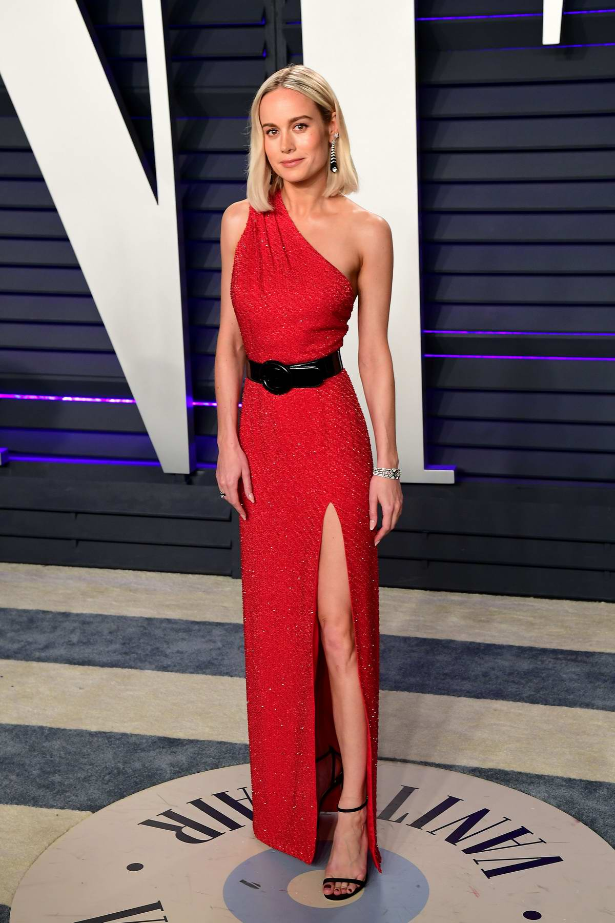 Brie Larson attends the Vanity Fair Oscar Party at Wallis Annenberg Center for the Performing Arts in Beverly Hills, California