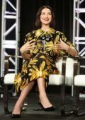 Caitriona Balfe attends the Starz 'Fiercely Female Panel' during the Starz 2019 Winter TCA in Los Angeles