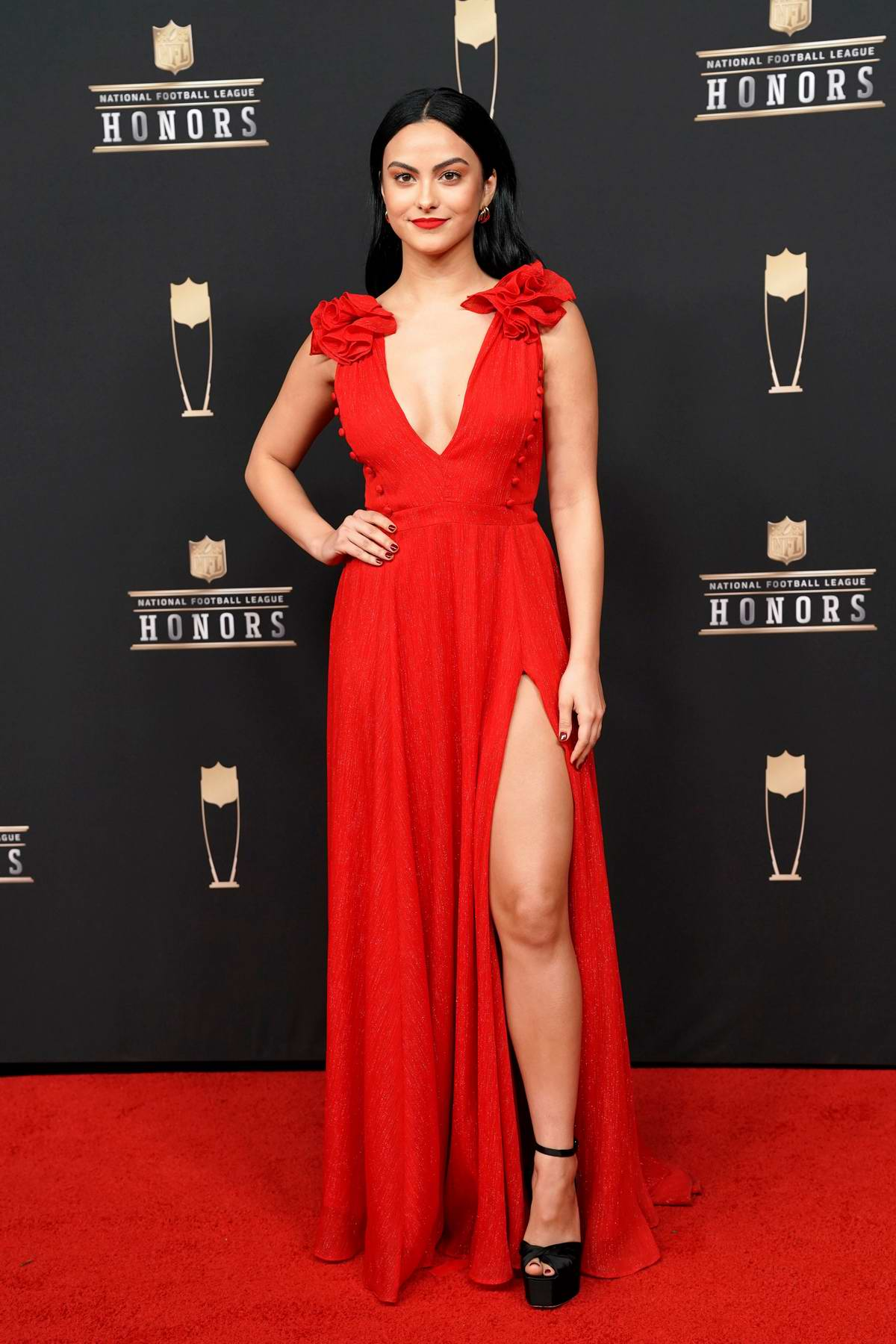 Camila Mendes attends the 8th Annual NFL Honors at the Fox Theatre in Atlanta, Georgia
