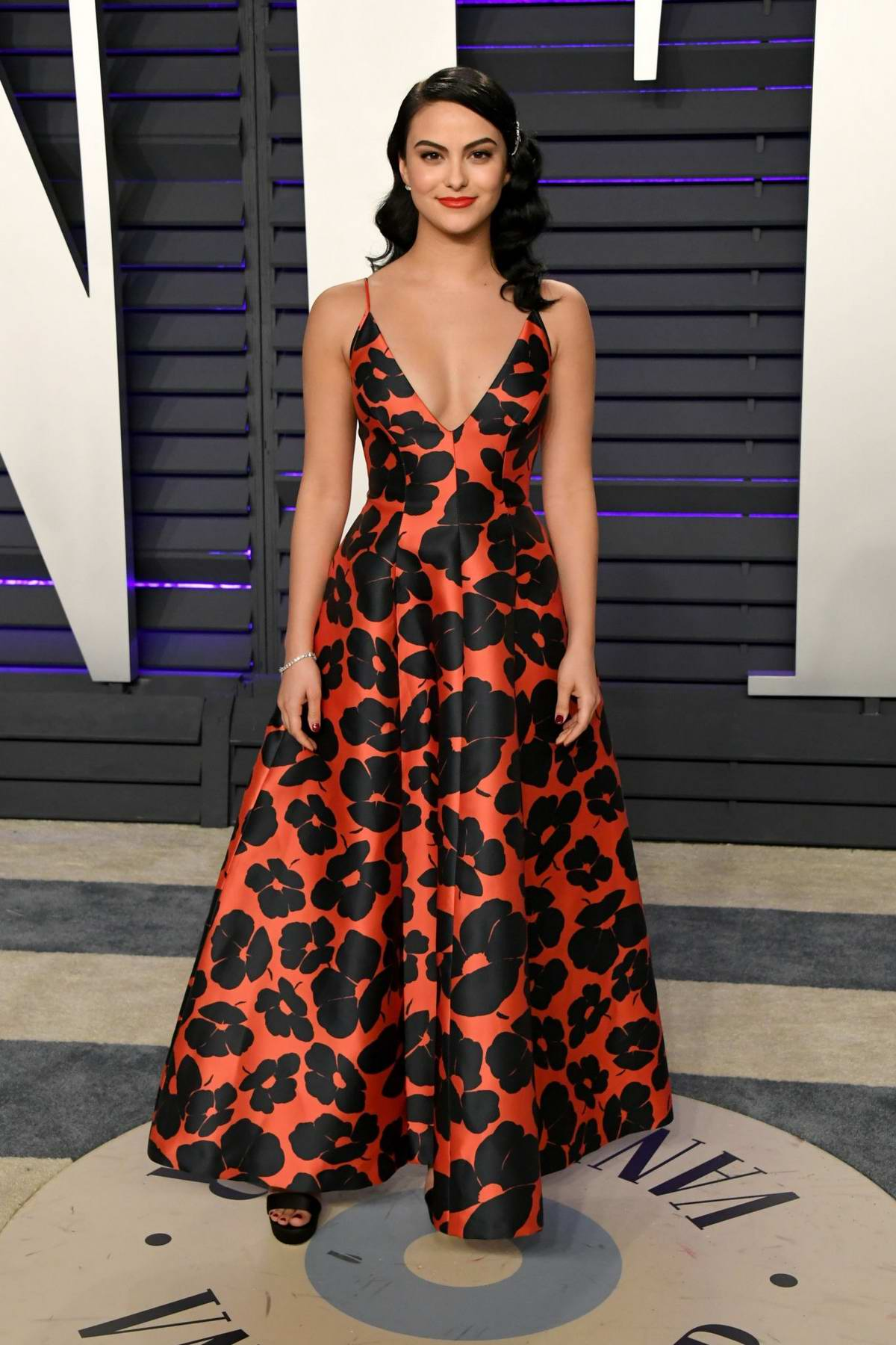 Camila Mendes attends the Vanity Fair Oscar Party at Wallis Annenberg Center for the Performing Arts in Beverly Hills, California