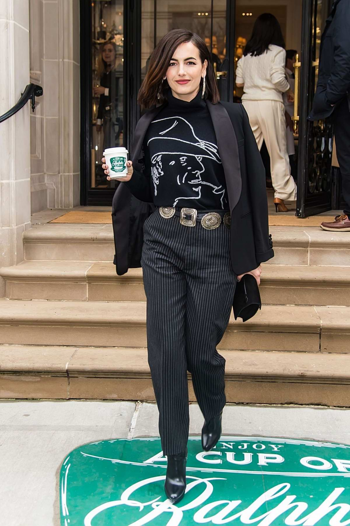 Camilla Belle leaving the Ralph Lauren Show during New York Fashion Week in New York City