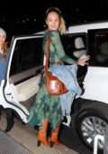 Candice Swanepoel leaving the Prabal Gurung Fashion Show during New York Fashion Week in New York City