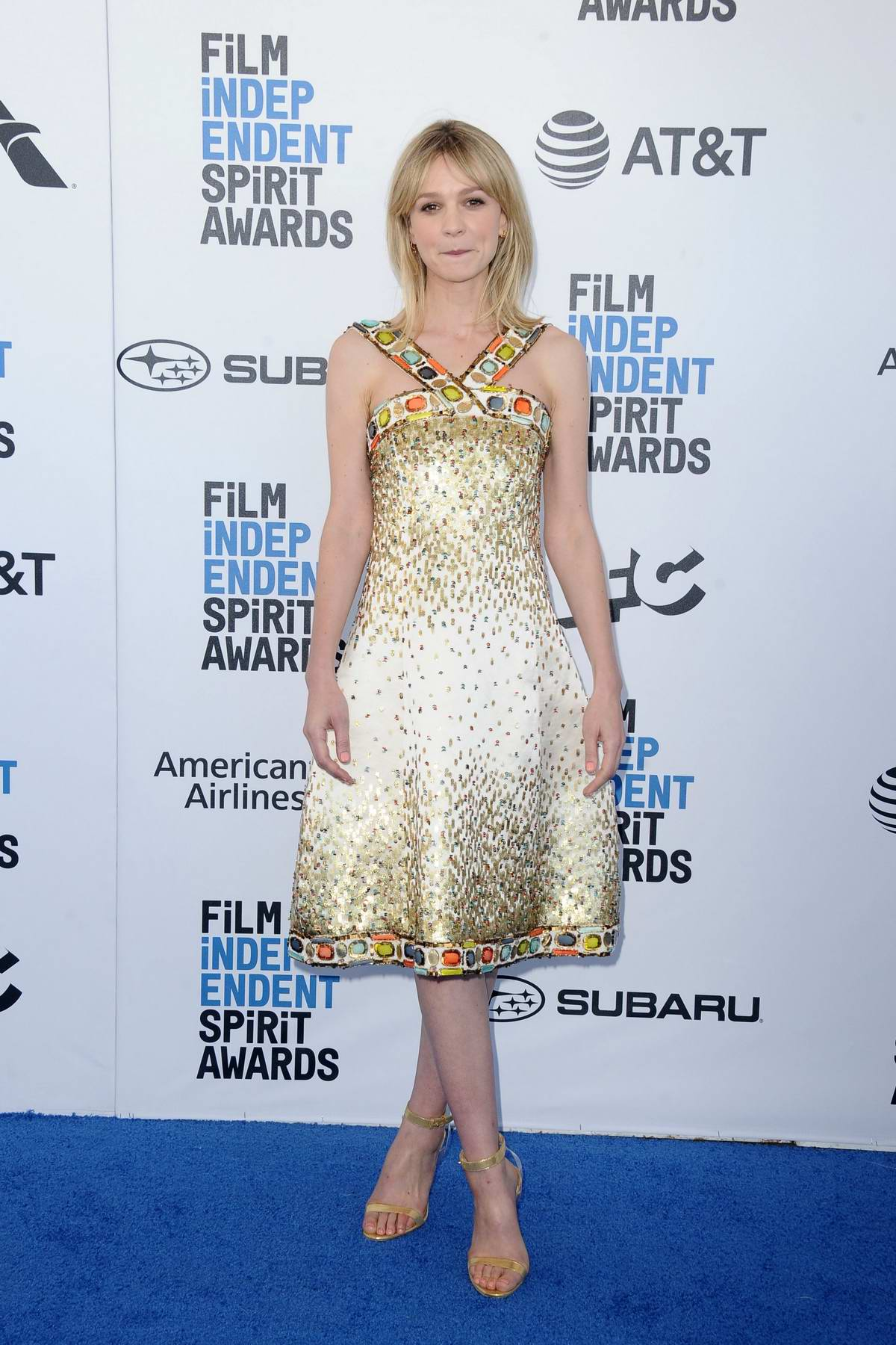 Carey Mulligan attends the 34th Film Independent Spirit Awards in Santa Monica, California