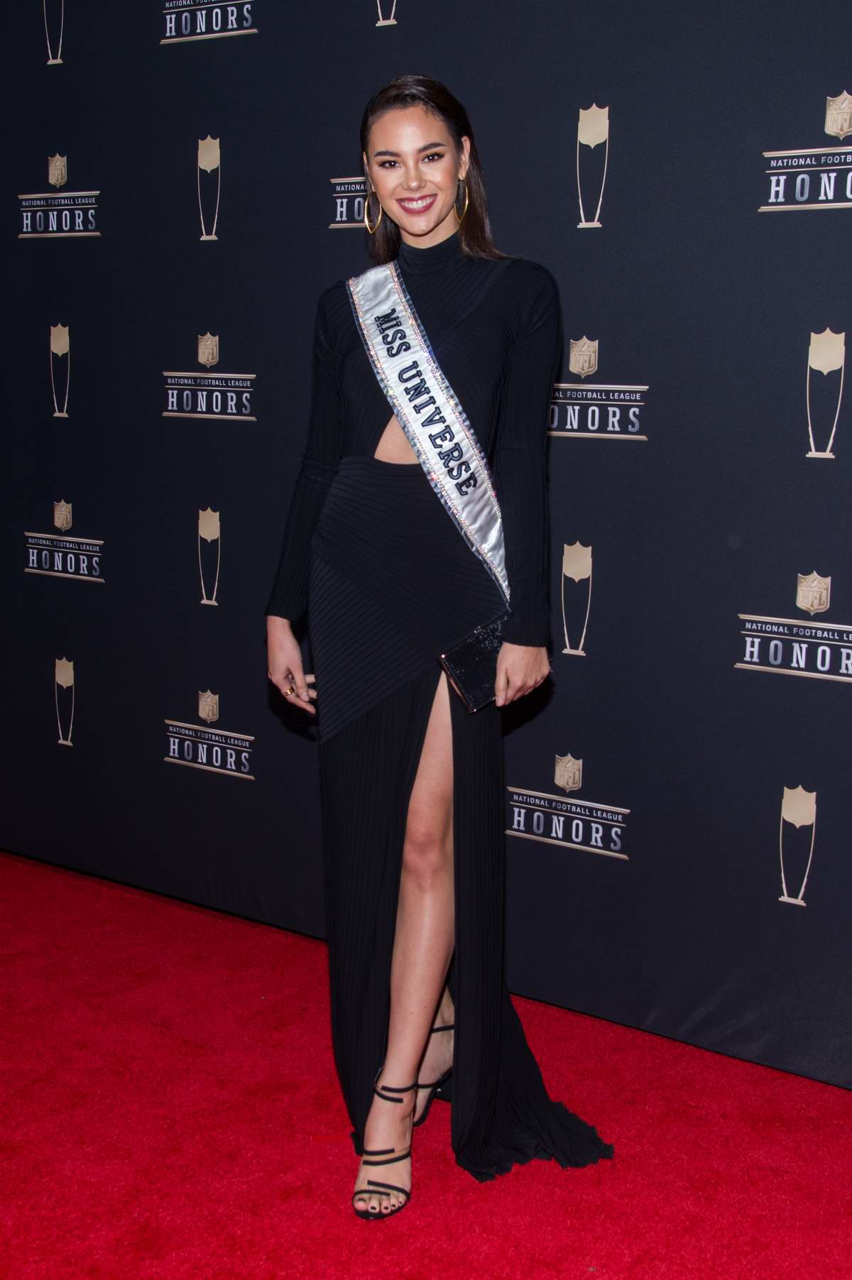Catriona Gray attends the 8th Annual NFL Honors at the Fox Theatre in Atlanta, Georgia