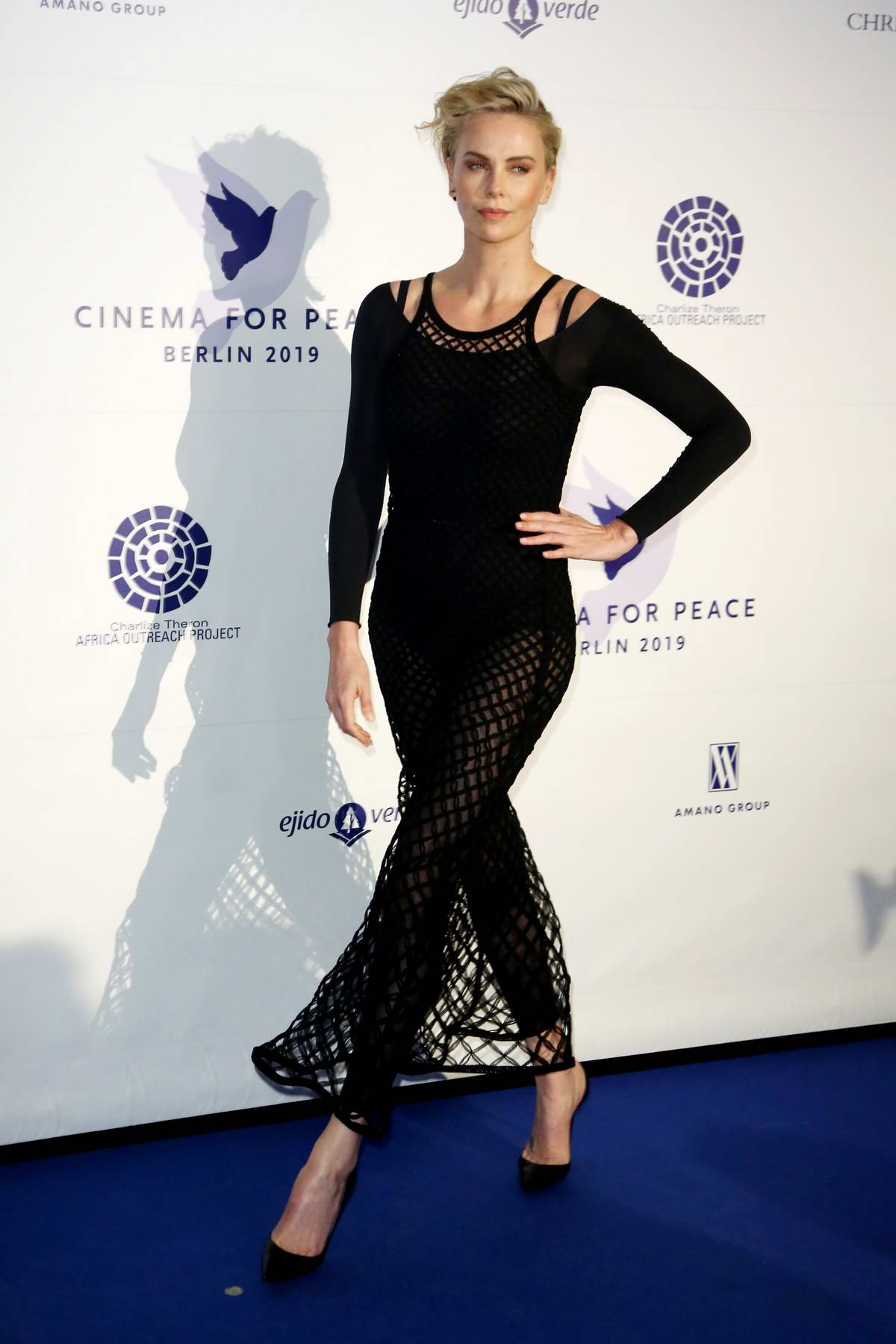 Charlize Theron attends the Cinema For Peace International Committee & Nominee Dinner in Berlin, Germany