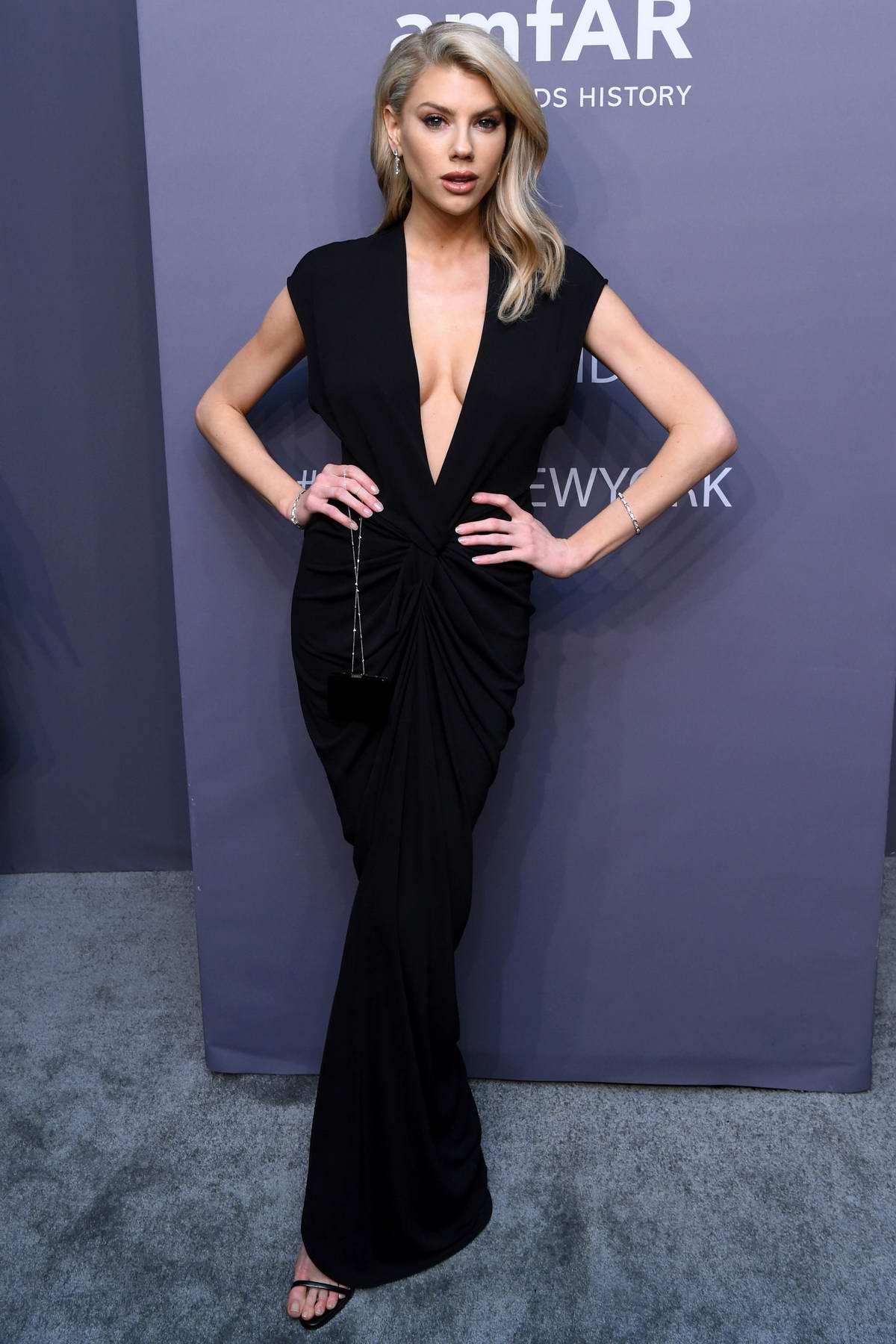 Charlotte McKinney attends amfAR New York Gala 2019 at Cipriani Wall Street in New York City