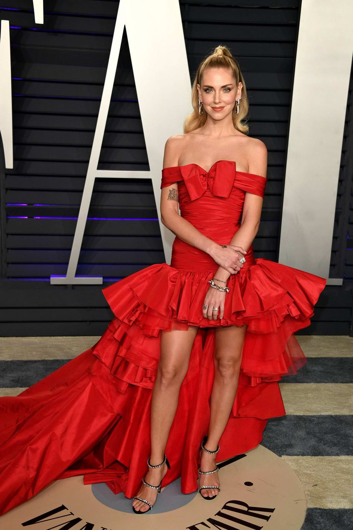 Chiara Ferragni attends the Vanity Fair Oscar Party at Wallis Annenberg Center for the Performing Arts in Beverly Hills, California