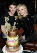 Chloe Grace Moretz and brother Colin Moretz celebrate their birthday at On The Record Speakeasy and Club at Park MGM in Las Vegas, Nevada