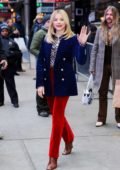 Chloe Grace Moretz arrives to promote her new movie 'Greta' at Good Morning America in New York City