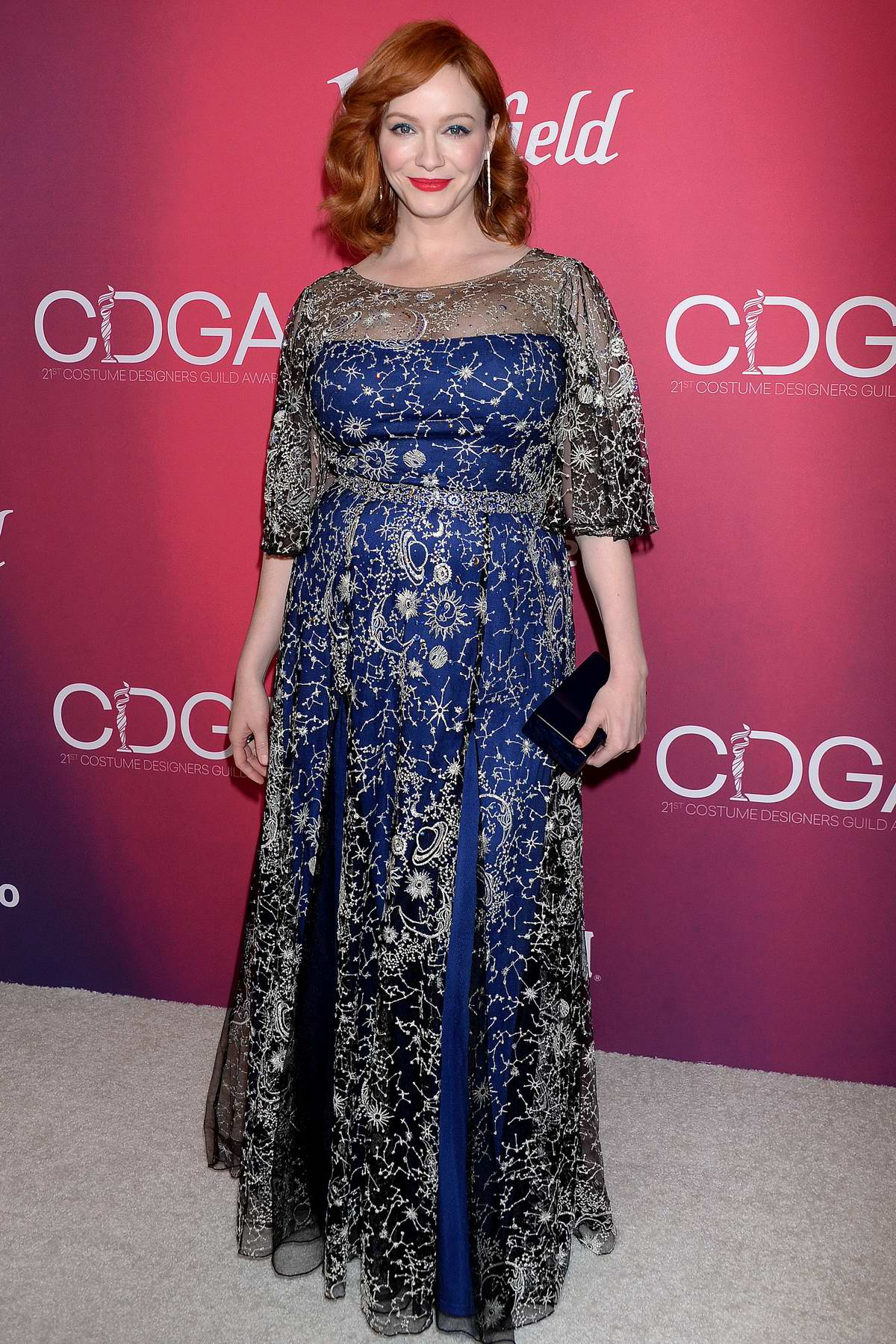 Christina Hendricks attends the 21st Costume Designers Guild Awards in Los Angeles