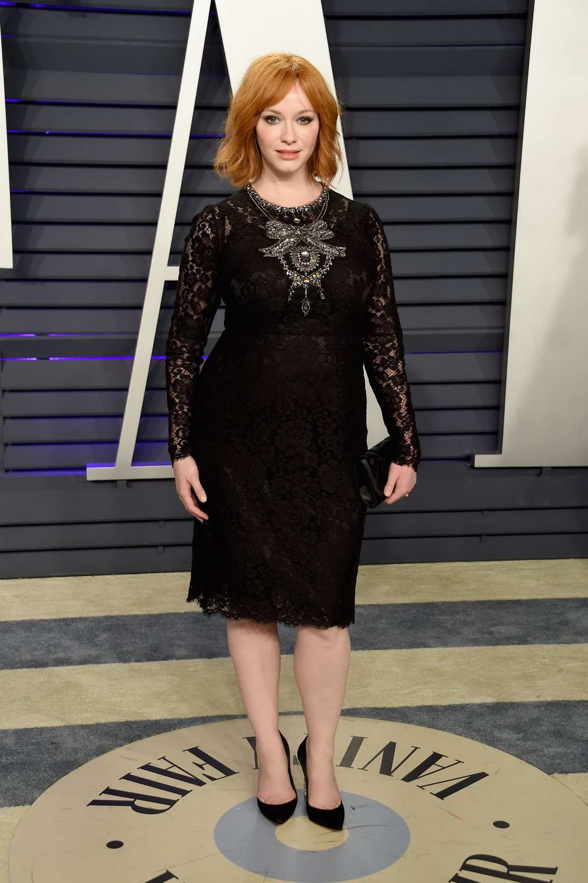 Christina Hendricks attends the Vanity Fair Oscar Party at Wallis Annenberg Center for the Performing Arts in Beverly Hills, California