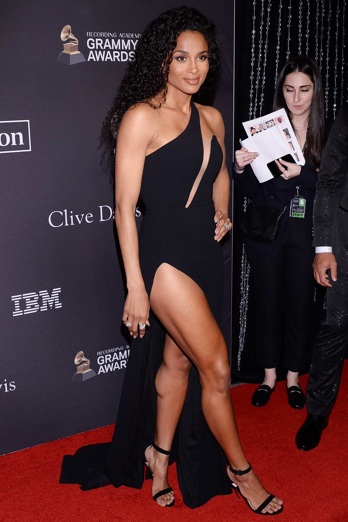 Ciara attends the Clive Davis Pre-Grammy Gala and Salute to Industry Icons held at The Beverly Hilton in Los Angeles