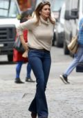 Cindy Crawford and Rande Gerber seen with their kids Kaia and Presley while out in New York City