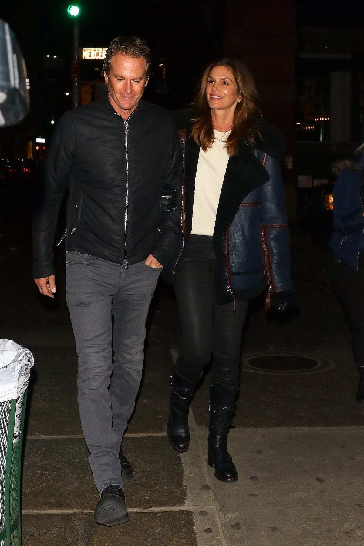 Cindy Crawford and Randy Gerber head out for Valentine's Day dinner in New York City