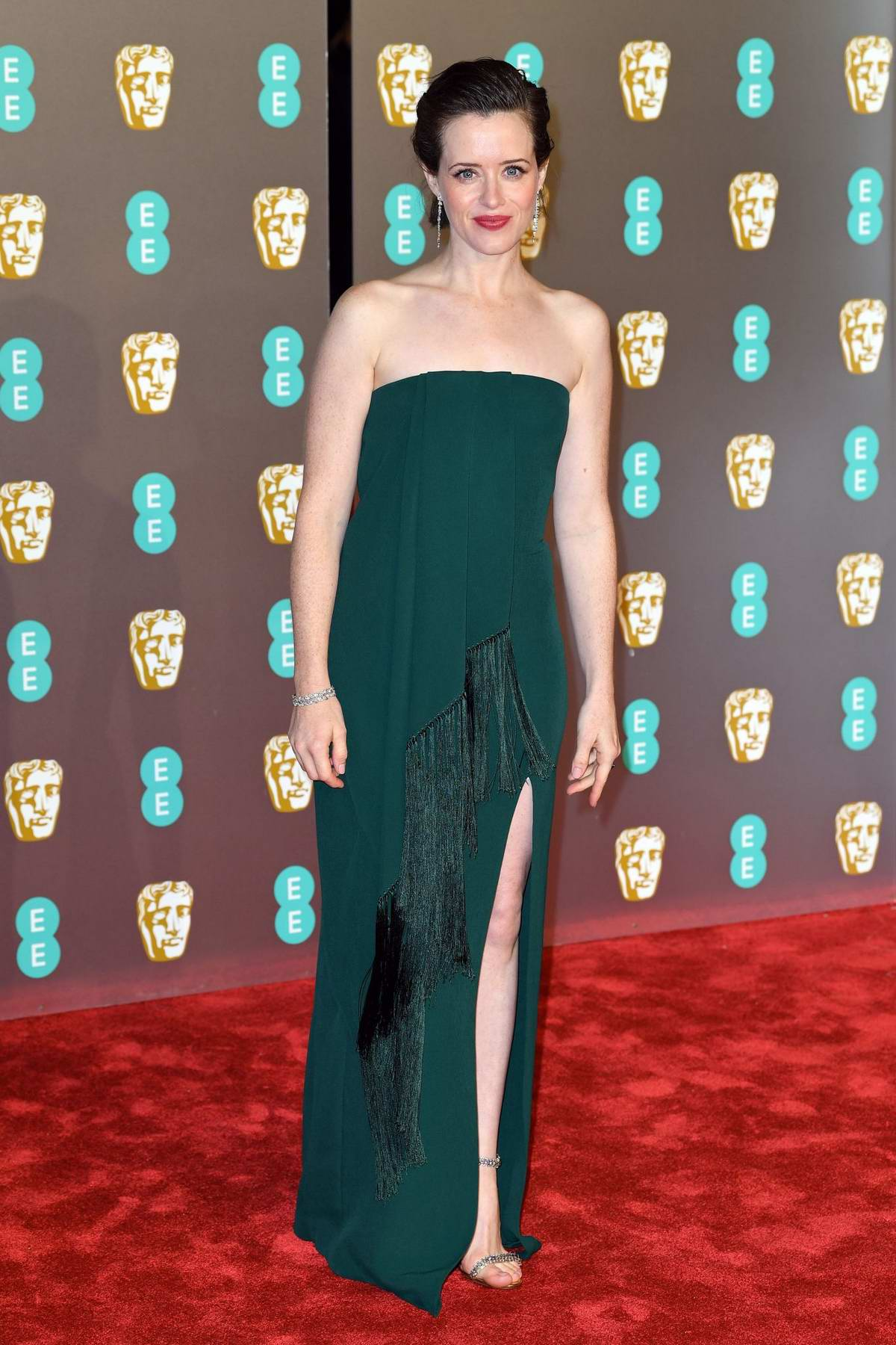 Claire Foy attends the 72nd EE British Academy Film Awards (BAFTA 2019) at Royal Albert Hall in London, UK