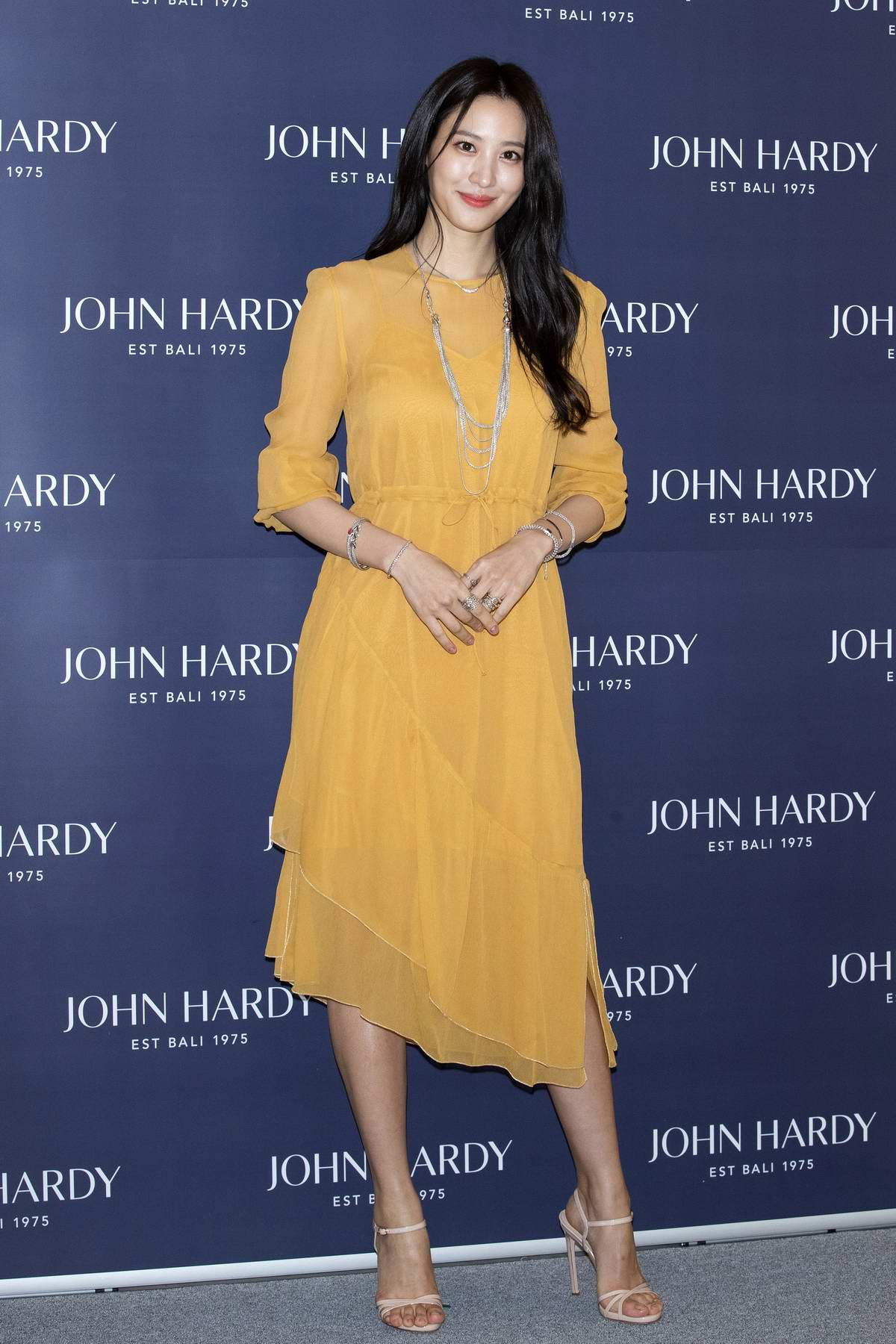Claudia Kim attends the John Hardy fashion photocall in Seoul, South Korea
