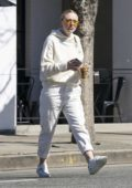 Dakota Fanning dons all white while out for lunch at Joan's on Third in Los Angeles