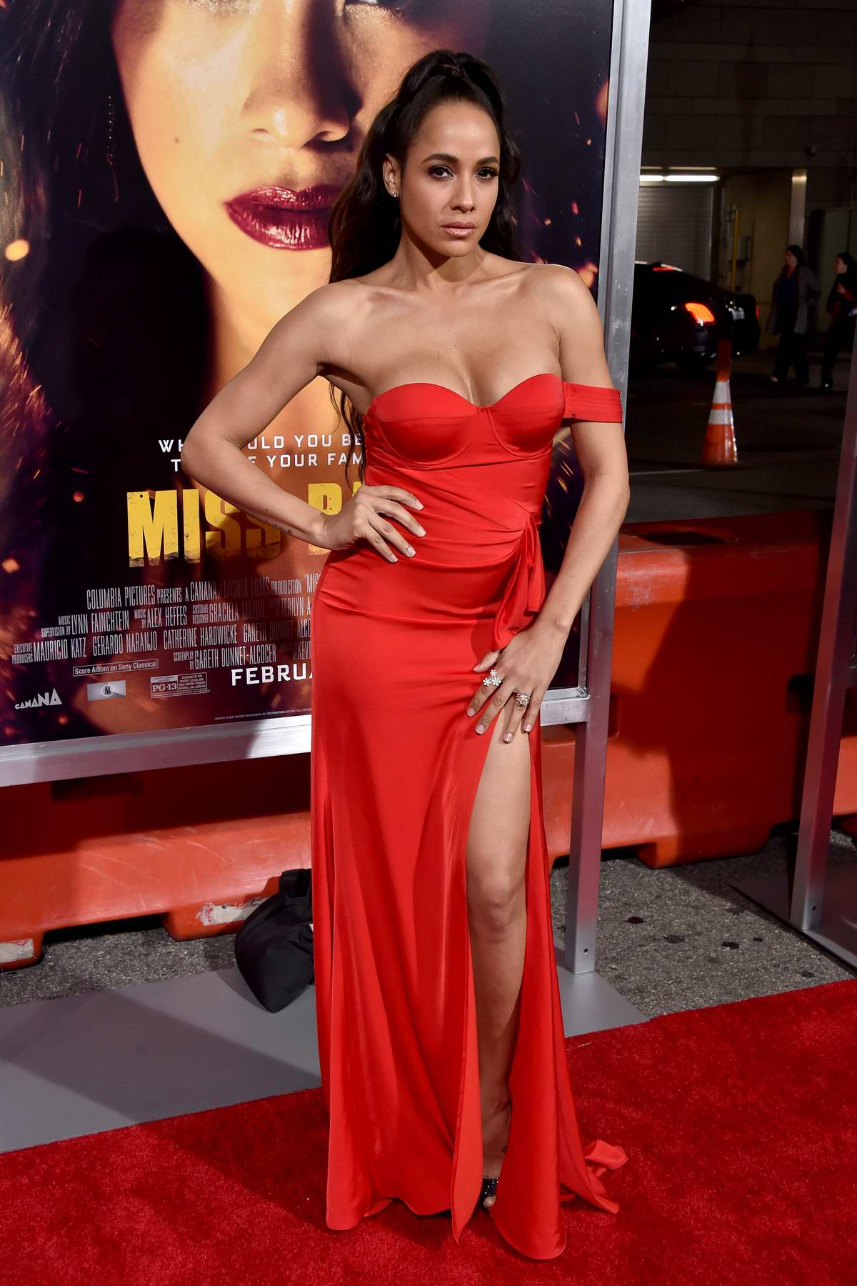 Dania Ramirez attends the premiere of 'Miss Bala' at Regal LA Live Theatre in Los Angeles