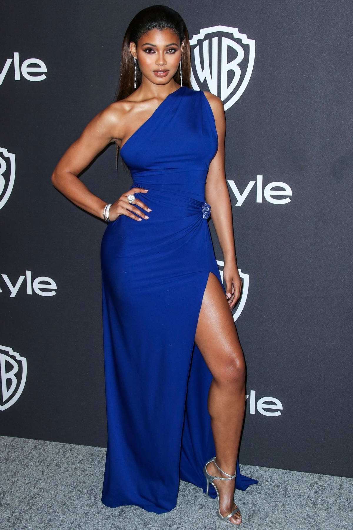 Danielle Herrington attends InStyle and Warner Bros Golden Globe After Party 2019 at Beverly Hilton Hotel in Beverly Hills, California